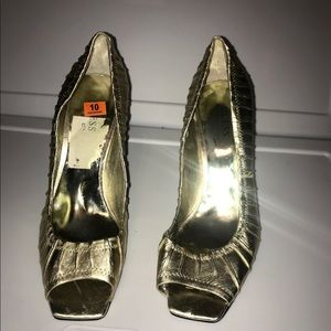 "Guess Metallic Gold heels(3 1/2""), size 10"